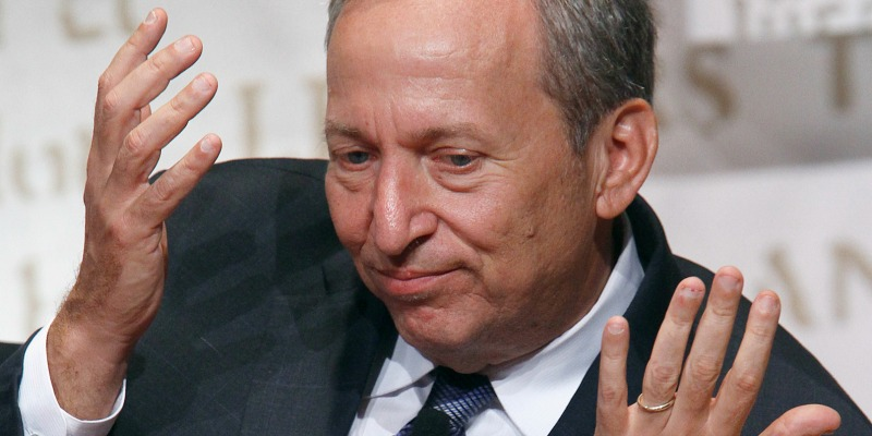 The photo pictures economist Lawrence Summers.
